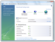 Windows Vista Network and Sharing Center