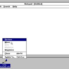 Windows 3.1 window.
