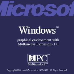 Windows 3.0 MME logo screen.