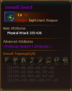 Equipment IronwillSword Knight