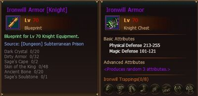 BP Ironwill Armor