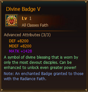 DivineBadgeV Sample