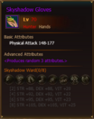 Equipment SkyshadowGloves Hunter