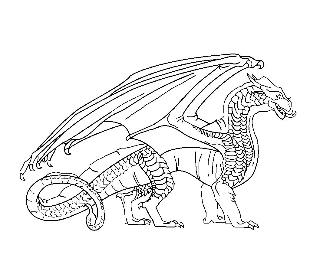 fire dragon coloring pages - image wings of fire sandwing base by windymoonstorm