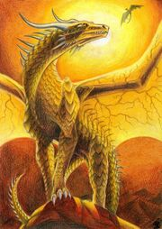 Golden dragon by daeigira blood-d3i6t2k