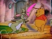Pooh trying to help Rabbit