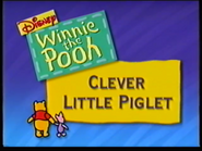 Clever Little Piglet title card