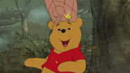 Winnie the Pooh just saw a honey pot shaped bee