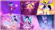 Winx Club - Musa All Full Transformations up to Tynix! HD!