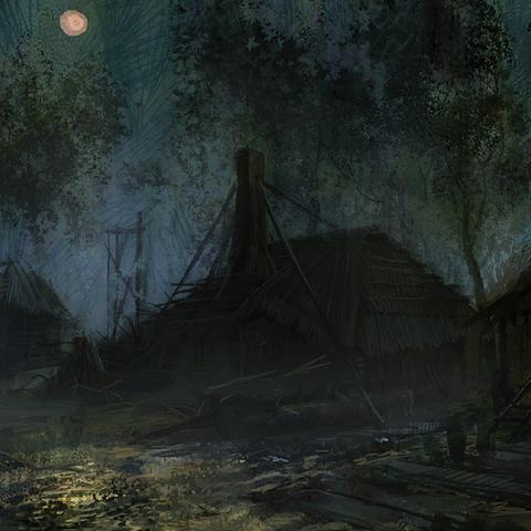 Swamp concept night