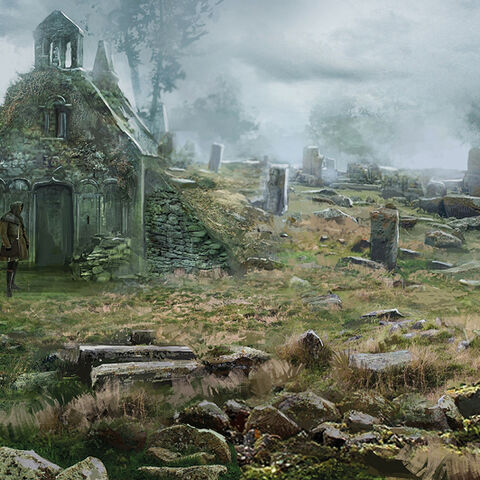 Concept art of cemetery