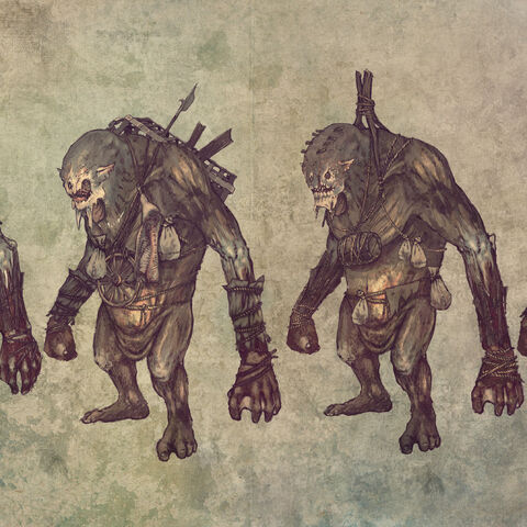 Trolls, The Witcher 2 concept art.