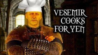 The Witcher 3 Wild Hunt - Vesemir cooks for Yennefer (Deleted Kaer Morhen scene)