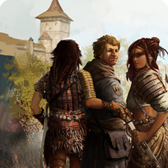 Borch and his companions on card in <i>The Witcher 3 </i>.