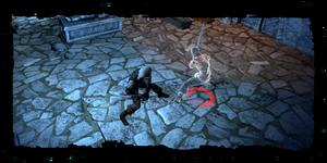 Geralt fighting Leo's ghost