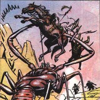 Wizerunek z komiksu o wiedźminie