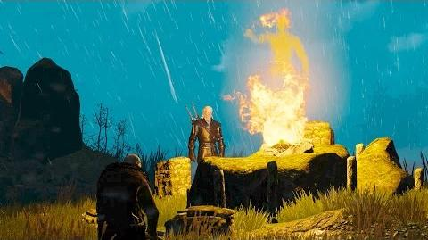 Forefathers' Eve- Geralt, Patricide Pellar and Old Ambros Ghost (Witcher 3 - Velen Quest)
