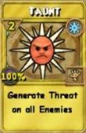 Taunt Treasure Card