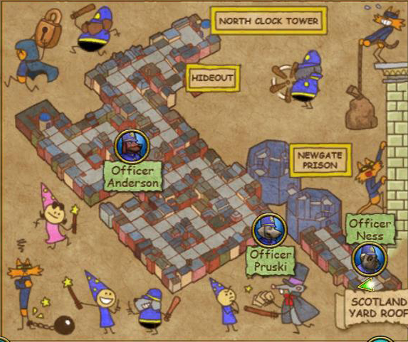 Newgate Prison Map