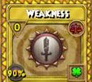 Weakness Treasure Card