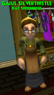 Gaius Silverthistle WC Hat Shopkeeper