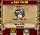 A Foul Decree