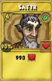 Satyr Treasure Card