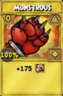 Monstrous Treasure Card