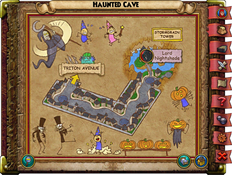 Haunted Cave Map