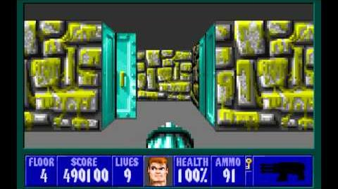 Wolfenstein 3D (id Software) (1992) Episode 2 - Operation Eisenfaust - Floor 4 HD