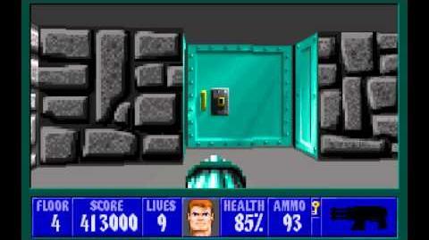 Wolfenstein 3D (id Software) (1992) Episode 1 - Escape From Castle Wolfenstein - Floor 4 HD