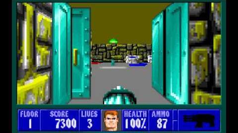 Wolfenstein 3D (id Software) (1992) Episode 2 - Operation Eisenfaust - Floor 1 HD