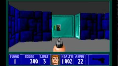 Wolfenstein 3D (id Software) (1992) Episode 1 - Escape From Castle Wolfenstein - Floor 1 HD