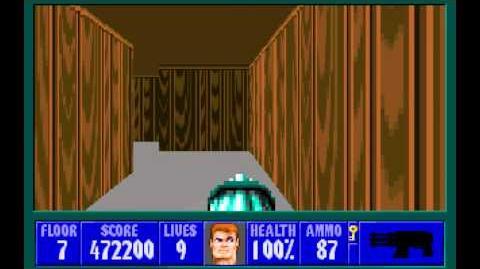 Wolfenstein 3D (id Software) (1992) Episode 3 - Die, Fuhrer, Die! - Floor 7 HD
