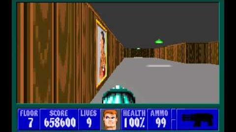 Wolfenstein 3D (id Software) (1992) Episode 1 - Escape From Castle Wolfenstein - Floor 7 HD