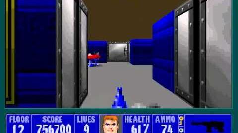 Spear Of Destiny 3 - Ultimate Challange - Floor 13 (Lower Bunker Area 2) Part 1
