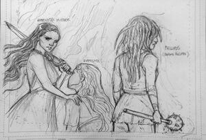 Legend of the Amazons character sketches