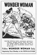 Wonder Woman newspaper strip ad 01