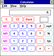 Windows31 calculator