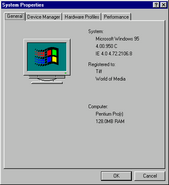 Windows95c properties