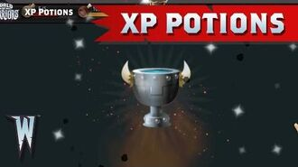 Official World of Warriors XP Potions