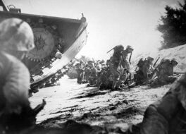 Landing on Saipan, June 15, 1944