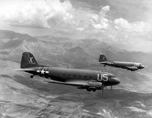 Two USAAF C-47A Skytrains, 1944