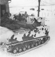 M29 Weasel transporting supplies, Bastogne 1944