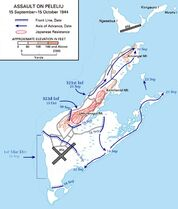 Battle of Peleliu Map