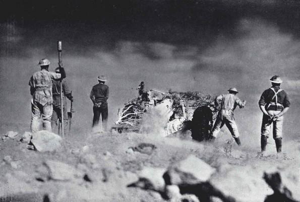File:Australian Artillery Emplacement, Bardia 1941.jpg