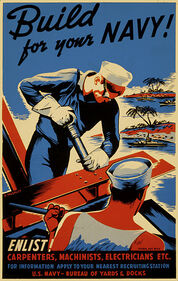 US Seabees Enlistment Poster