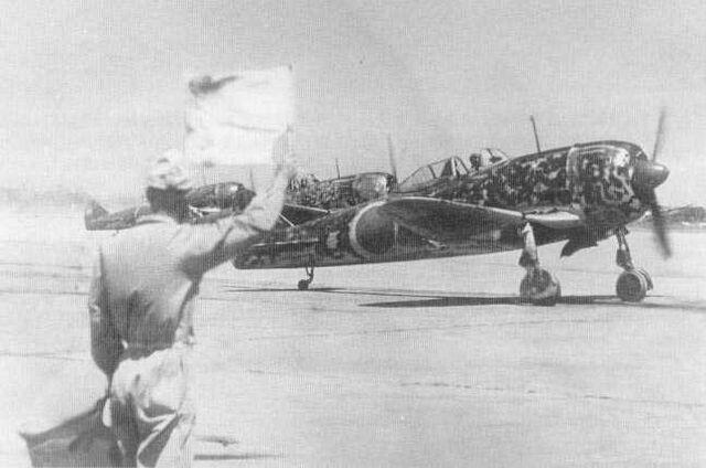 File:Ki-44, Taking Off.jpg