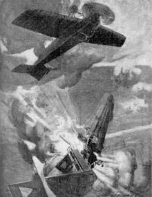 450px-The Great Aerial Exploit of Lieut Warneford