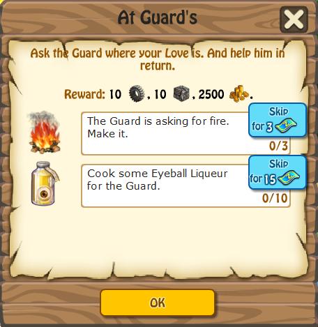 At Guards, Task